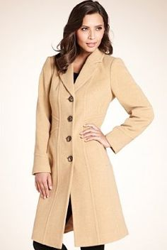 Wool Blend Single Breasted Coat with Cashmere £89.00 Camel
