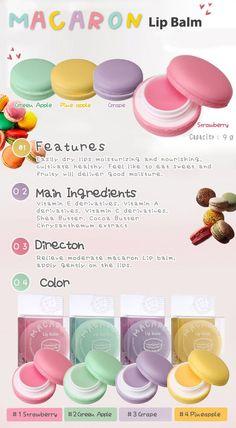 Macaron lip balm how cute!