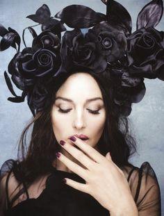 Black roses headpiece