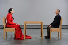 Marina Abramović's, The Artist is Present. I saw this a couple of times when I was in NYC, it took place in the MOMA
