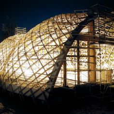 Building the Downland Gridshell Villas, Shell Structure, Geodesic Dome,  Pergola, Bending Wood 0a97ca9f142