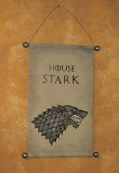 Hand Painted Canvas Winter is Coming Banner