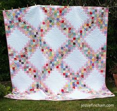 MessyJesse - a quilt blog by Jessie Fincham: The FINISHED Scrappy Irish Chain Quilt + FREE Downloadable Pattern!