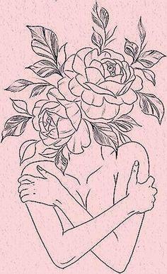 Line Art Tattoos, Mini Tattoos, Love Tattoos, Small Tattoos, Tatoos, Tattoo Sketches, Tattoo Drawings, Art Sketches, Art Drawings