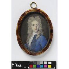 Portrait of an unknown man said to be W. Osbaldeston (Miniature)