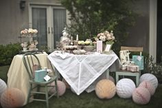 such a pretty tea party bridal shower