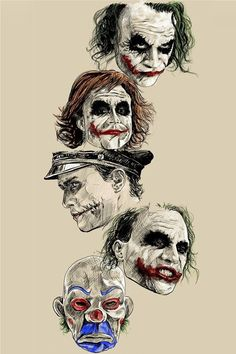 Faces of Heath ledger.. Joker.