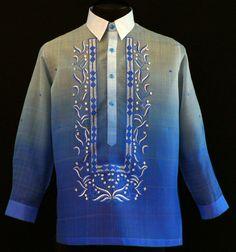 Monochromatic Royal Blue Barong Tagalog - Barongs R us Barong Wedding, Wedding Attire, Wedding Groom, Wedding Dresses, Filipiniana Dress, Filipiniana Wedding, Barong Tagalog, Philippines Fashion, Line Shopping