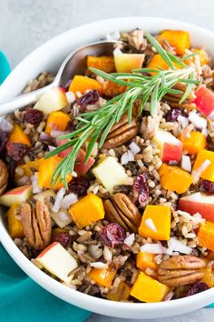 Roasted Butternut Squash Wild Rice Salad with Apple and Cranberries