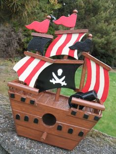 Pirate ship - got it at michaels and haven't painted yet. This might be an idea to paint like.