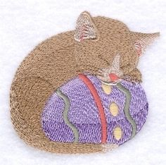 Easter Egg and Kitten - 4x4 | What's New | Machine Embroidery Designs | SWAKembroidery.com Starbird Stock Designs