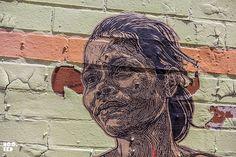 Stunning new Wheatpaste works by Brooklyn Street Artist Swoon in New York. Street Art News, Street Art Banksy, 3d Street Art, Street Artists, Graffiti Artwork, Graffiti Artists, Graffiti Lettering, Wheatpaste Street Art, New York Graffiti