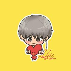 V Chibi, Cute Cartoon Girl, Kpop Fanart, Love And Respect, Bts Wallpaper, Taehyung, Fan Art, Drawings, Character