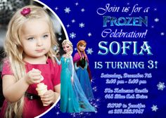 Frozen Birthday Party Invitation  Printable by FunPartyInvitation, $8.99