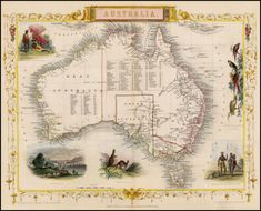 (Title unset) - Barry Lawrence Ruderman Antique Maps Inc. Vintage Maps, Antique Maps, Vintage Wall Art, Vintage Ephemera, Greece Map, Map Maker, Australia Map, Old Maps, Historical Maps