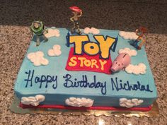 - Toys for years old happy toys Toy Story Birthday Cake, Woody Birthday, 2nd Birthday Boys, Birthday Sheet Cakes, 4th Birthday Cakes, Birthday Ideas, Birthday Parties, Toy Story Theme, Toy Story Party