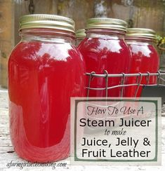 A steam juicer has revolutionized making juice concentrate jelly and fruit leather. Do not spend hours boiling and handing fruit this preserving tool is ideal to use in and outside of canning season! Steam Juicer, How To Make Jelly, Centrifugal Juicer, Fruit Juicer, Juice Extractor, Juice Concentrate, Vegetable Recipes, Vegetable Smoothies, Healthy Smoothies
