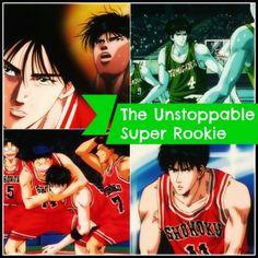 Kaede Rukawa the unstoppable super rookie of Shohoku up against Kainan via watchslamdunkanime.blogspot.com ep-55 Inoue Takehiko, Slam Dunk, Slums, Basketball Players, Soundtrack, English, Movie Posters, Sd, Watch
