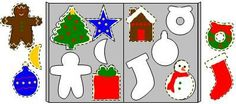 Christmas cookie matching file folder game