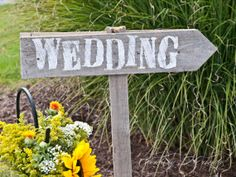 Rustic Recycled Wooden Wedding Direction Signs by Eventsbyicandy, $55.00