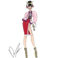 Illustrations by Trendy by Daren J Disney fashion frenzy, Mulan, Blossoming Beauty Disney Style, Disney Love, Disney Art, Lea Salonga, Princesa Mulan, Disney Inspired Fashion, Disney Fashion, Cartoon Fashion, Alternative Disney Princesses