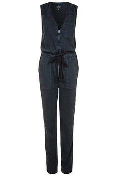 Sleeveless Zip Front Jumpsuit