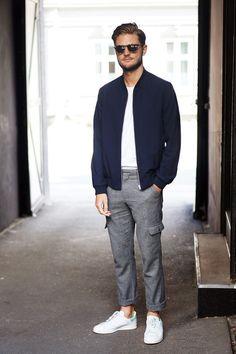 Stylish Men, Men Casual, Der Gentleman, Look Street Style, Scandinavian Fashion, Best Mens Fashion, Men Looks, Jacket Style, Look Cool