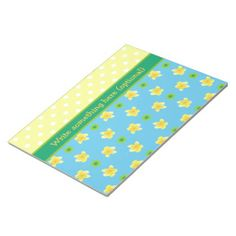 Shop Notepad or Jotter to Personalize Primroses, Polkas created by poshandpainterly. Personalize it with photos & text or purchase as is!