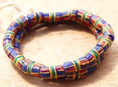 Krobo beads Kente Design beads African Recycled by Krobobeads