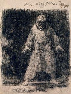 Francisco Goya, A Happy Man Francisco Goya, Drawing Sketches, Art Drawings, Spanish Artists, Gravure, Figurative Art, Dark Art, Oeuvre D'art, Art History