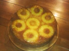 Pineapple Upside Down cake fresh out of the oven.  Made with my Pampered Chef 12inch Executive Skillet.  Yum!