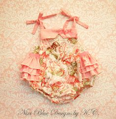 Baby Ruffle romper Ruffle sunsuit Baby girl Fairy romper First birthday outfit Newborn girl take home outfit 100% cotton NB to 24M on Etsy, $37.50