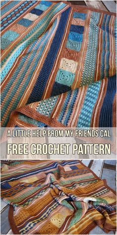 A Little Help From My Friends CAL Free Crochet Pattern #crochetCAL #crochet #freepattern #crochetlove #knittingpatternsblankets
