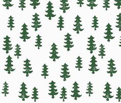 Little Woolf Contour Changing Pad Cover in Hunter Green Trees, Gender Neutral, Baby Boy, Baby Girl, Organic, Cover, Woodland, Forest, Woods