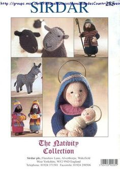 The Nativity Collection - Christmas crochet - Muscaria Amanita - Picasa Web Albums Crochet Christmas Gifts, Christmas Knitting Patterns, Holiday Crochet, Christmas Toys, Xmas, Animal Knitting Patterns, Stuffed Animal Patterns, Knitted Dolls, Crochet Dolls