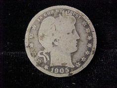 1905 s Barber Silver Quarter Scarce Date G AG Condition Collectors | eBay