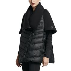 Nike Womens Sportwear Tech Fleece Aeroloft Down Cape Jacket Black XLarge    Find out more about 76daa46b99e4