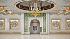 One of the amenities of the Palm apartments islamabad, pakistan. Mosque Architecture, Architecture Design, 3 Bedroom Bungalow, Baroque Design, Main Door Design, Beautiful Mosques, Luxury Interior Design, Ceiling Design, House Plans