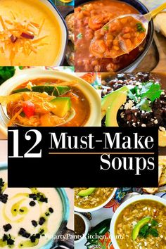 A collection of easy, delicious, must-make soups for Fall! Thanksgiving Recipes, Fall Recipes, Dinner Recipes, Cheap Recipes, Cream Soup Recipes, Healthy Soup Recipes, Easy Recipes For Beginners, Cooking For Beginners, Chicken Tortilla Soup