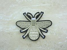 Iron-On Patches Gold Bee Appliques