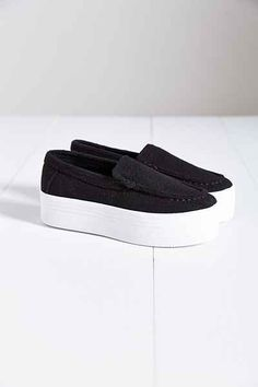Jeffrey Campbell Nando Wool Platform Sneaker