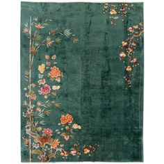 View this item and discover similar for sale at - A hand-knotted antique Chinese rug with a floral Art Deco design. This rug measures: x Classic Furniture, Vintage Furniture, Furniture Ideas, Furniture Outlet, Industrial Furniture, Furniture Makeover, Living Room Carpet, My Living Room, Chinese Fabric