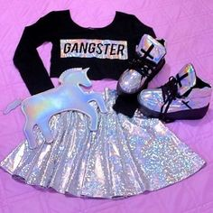 movie date outfit Girls Fashion Clothes, Teen Fashion Outfits, Kids Fashion, Womens Fashion, Unicorn Fashion, Unicorn Outfit, Unicorn Clothes, Unicorn Nails, Cute Girl Outfits
