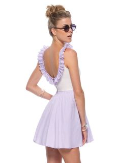 Love the lilac colour and the ruffles!!!