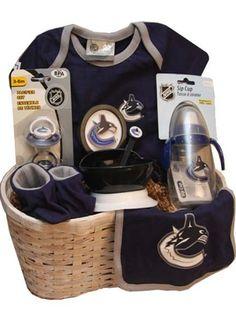 Canucks Baby Gift Basket