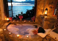 The honeymoon room in Lake Malawi.  Top 10 Baths with a View | Audley Travel Sexy getaway!