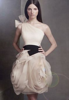 This is supposed to be a wedding dress but I think it could make quite a statement as a cocktail dress.