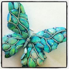 Arunashi Opal and Diamond Butterfly Brooch ~ Instagram