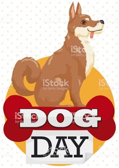 Postcard with elegant oriental breed dog waiting patiently over a red. Free Vector Art, Image Now, Dog Days, Scooby Doo, Dog Breeds, Oriental, Waiting, Elegant, Illustration
