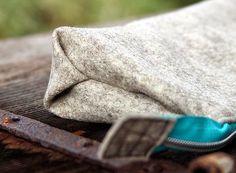Origami-Boden - die Faltung kommt bei Filz einfach gut raus.